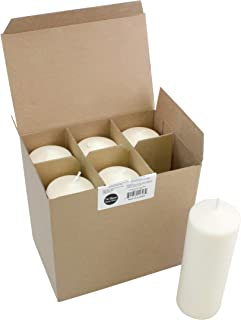 Stonebriar Tall 3 x 8 Inch Unscented Ivory Pillar Set, Candle Decor for Lanterns, Hurricanes, and Centerpieces, Set of 6, 3x8,