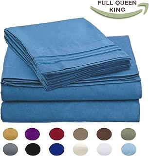 Luxury Egyptian Comfort Wrinkle Free 1800 Thread Count 6 Piece King Size Sheet Set, Royal Blue Color, 2 Bonus Pillowcases Free!