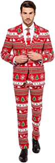 Winter Wonderland Santa Christmas Suit Men Adult Costume