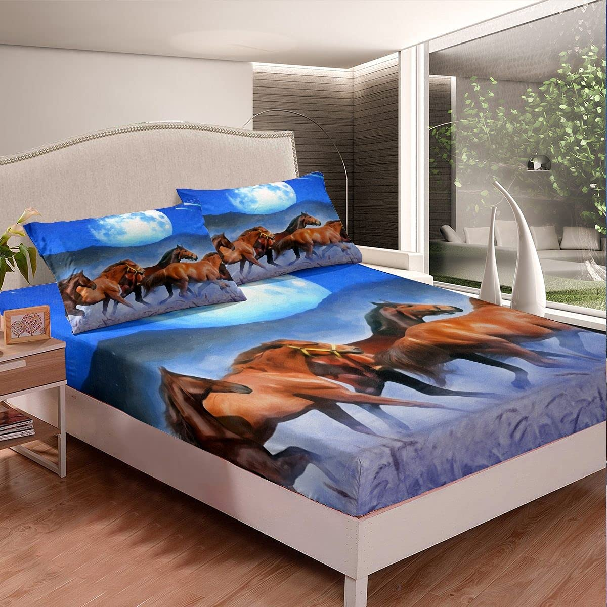 Erosebridal Kids Horse Fitted Bed Sheets Bedding Fashionable Max 68% OFF Se Animal Farm