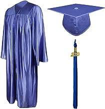 GraduationMall Shiny Graduation Gown Cap Tassel Set 2019 for High School