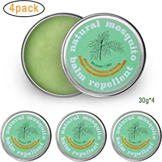 Apder Natural Anti Mosquito Bug Repellent Balm for Plan,Herbal Insect Repellent,Total 4.23oz(4 pots)