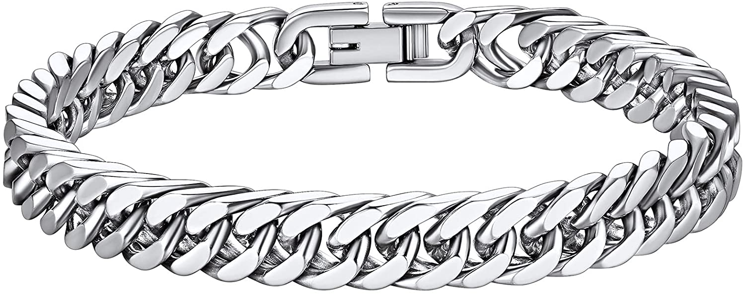 Richsteel Stainless Steel Gold Black Plated Bracelet Max 53% OFF Chain Link Large discharge sale