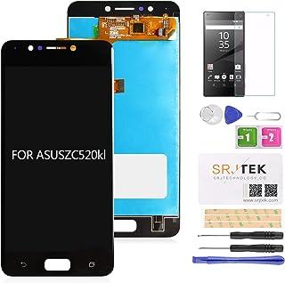 SRJTEK For Asus Zenfone4 Max ZC520kL 交換修理用 5.2インチ 液晶LCDパネル(フロントガラスデジタイザ) タッチパネル 修理用キット 工具セット付き (ブラック)