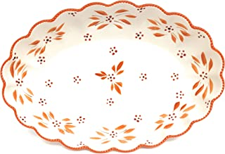 """Temp-tations Clamshell Oval Baker w/Plastic Cover, 3.5 Qt, 15"""" x 10"""" (Old World Spice)"""