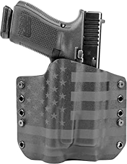 Outlaw Holsters - OWB Kydex Light Bearing Holster - USA Stealth Black