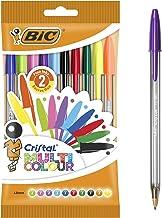 BIC Cristal Multicolour bolígrafos Punta Ancha (1,6 mm) – colores Surtidos, Blíster de 10 unidades