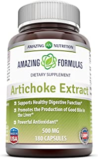 Amazing Formulas Artichoke Extract Dietary Supplement * 500mg Cynara Scolymus Leaf Capsules * for Healthy Weight Managemen...