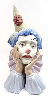 Lladro Glazed Porcelain Clown Head Collectible Figurine