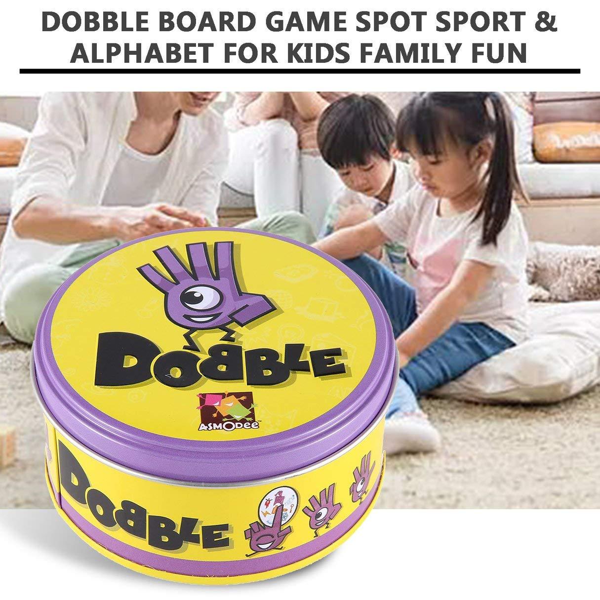hydens DOBBLE - Juego de Mesa para niños, diseño de Alfabeto y Deporte, versión en inglés: Amazon.es: Hogar
