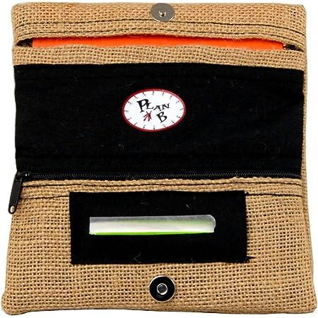 Plan B, Portasigarette Tabacco Trinciato, Yolo Sacco, 16 x 8.5 cm, 50 g, con Borsa in Gomma EVA, Iuta Beige