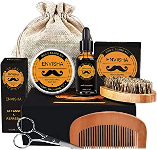 Beard Kit for Men Grooming & Care,Luxury Beard Kit,beard growth kit Birthday Gifts for Men,Beard Oil,Beard Comb,Beard Brus...