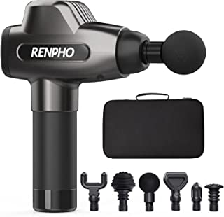 Renpho Massage Gun, C3 Deep Tissue Muscle Massager, Powerful Percussion Massager Handheld with Portable Case for Home Gym ...