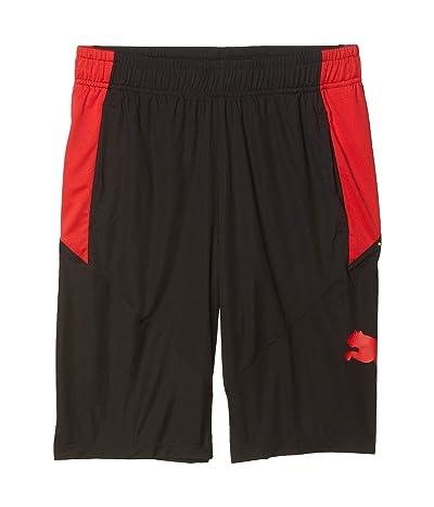 PUMA Cat Shorts (Puma Black/High Risk Red) Men