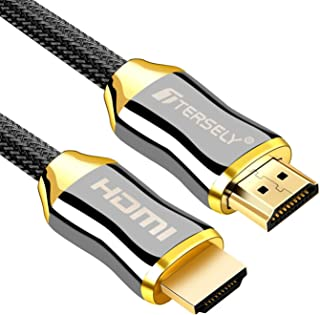TERSELY 4K HDMI Cable, 2M HDMI Cable 2.0a/b High Speed HDR Ultra FULL HD 4K@60Hz 4:4:4 Resolution 4096*2160 Nylon Net Zinc...