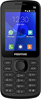 Feature Phone, Positivo, 11132387, 512 MB, 2.4, Preto