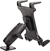 """Heavy Duty Drill Base Tablet Mount - TACKFORM [Enterprise Series] - 3.75"""" iPad Holder for Wall or Truck. ELD Mount for Devices Including iPad Mini, IPad Pro 12.9, Galaxy S, Surface Pro & Switch"""