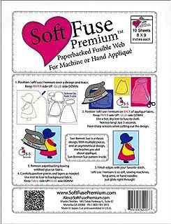 Shades Textiles Pkg 10pc Soft Fuse Premium 8x9 Pkg10 Piece, 1-(Pack)