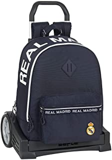 612034860 Mochila con carro ruedas Evolution, Trolley Real Madrid CF