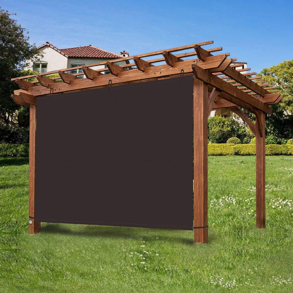 Ecover - Panel de Sombra Ajustable Impermeable 90% DE privacidad ...