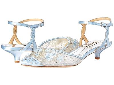 Badgley Mischka Iris (Light Blue Satin/Mesh) Women