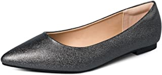 Sponsored Ad - mysoft Women's Flats Pointed Toe Ballet Wedding Flat Shoes with Comfort Heel Protection