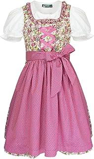 Country Maddox Maddox Kinder Dirndl Zillertal 3-TLG. - Beere Creme - Mädchen Kleid Schürze Bluse Oktoberfest Kirchweih Blumenmädchen Hochzeit