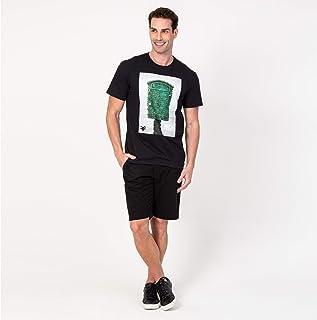 Camisa T-shirt Preto Verde Lifeguard