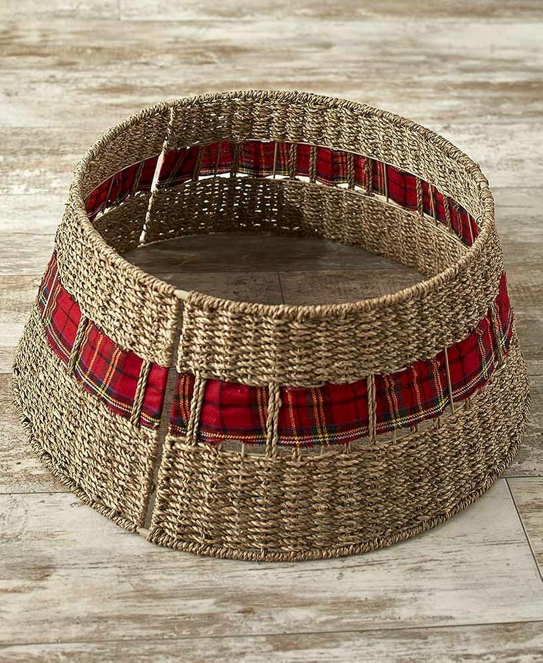 The Lakeside Collection Rattan Christmas Tree Collar -