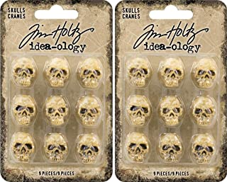 Tim Holtz Idea-ology - Skulls - Halloween 2018 - Bundle of Two Packages