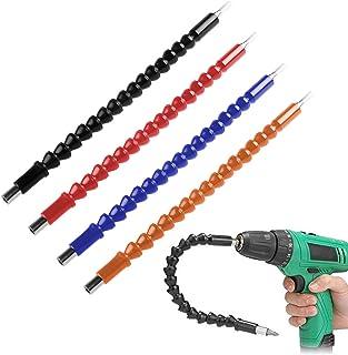FineGood Flexibele Power Bit Connect, 4 stuks, 295 mm, schroevendraaier, boren universele schacht, bits, boorverlenging, b...