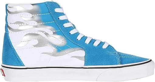 (Flame) Mediterranean Blue/True White