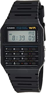 Casio CA-53W-1 Black Retro Style Unisex Digital Calculator Watch