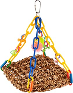 """Super Bird Creations SB747 Bright Colorful Mini Flying Trapeze Chewable Bird Toy, Small Size, 6"""" x 7"""" x 9"""""""