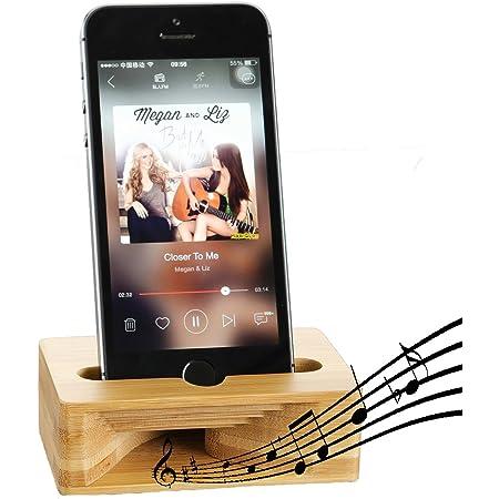 電話デスクスタンドアンプ、健全な大声携帯電話テーブルスタンドアンプホルダー用ホルダー、Fanshuユニバーサル竹モバイル携帯電話木製スピーカーデスクトップ怠惰な大声iPhone用アンドロイドスマートフォン