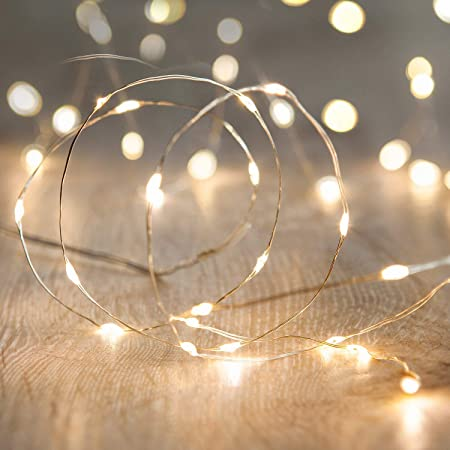Amazon Com Led String Lights Anjaylia 16 5ft 5m 50leds Battery Operated Fairy Lights For Garden Home Party Wedding Festival Decorations Warm White Garden Outdoor