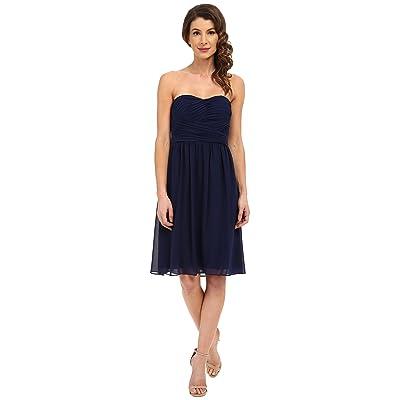 Donna Morgan Sarah Dress Short Ruched Dress (Midnight) Women