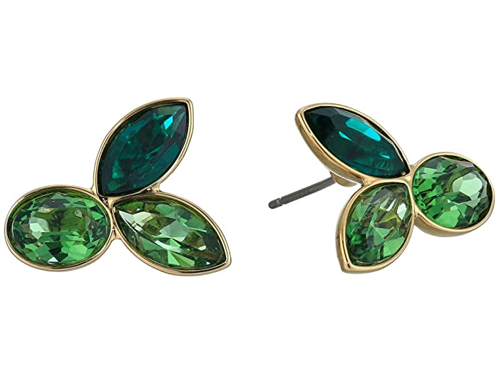 Swarovski  Bamboo Pierced Earrings Studs (Erinite/Emerald) Earring
