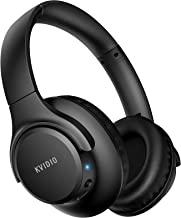 هدفون بلوتوث روی گوش ، هدفون بی سیم KVIDIO 55 ساعت پخش با میکروفون ، هدست سبک تاشو با باس عمیق ، تلفن استریو HiFi برای کار در موبایل لپ تاپ کامپیوتر