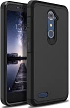 ZTE ZMAX Pro Case, ZTE Zmax Duo LTE Case, ZTE Blade X Max Case, OTOONE [Slim] Dual Layer Heavy Duty Protection Silicone Matte Cover for ZTE Grand X Max 2 Without Built in Screen Protector (Black)
