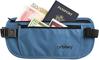 Orbisey Travel Adventure Hidden Waist Money Belt Water-Resistant for Passport Credit Cards Phone Documents One-Size Fits A...