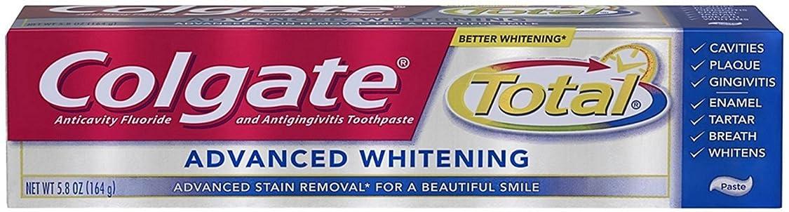 してはいけないセンチメートル移行するColgate 総歯磨きアドバンストホワイトニング5.80オズ 1パック