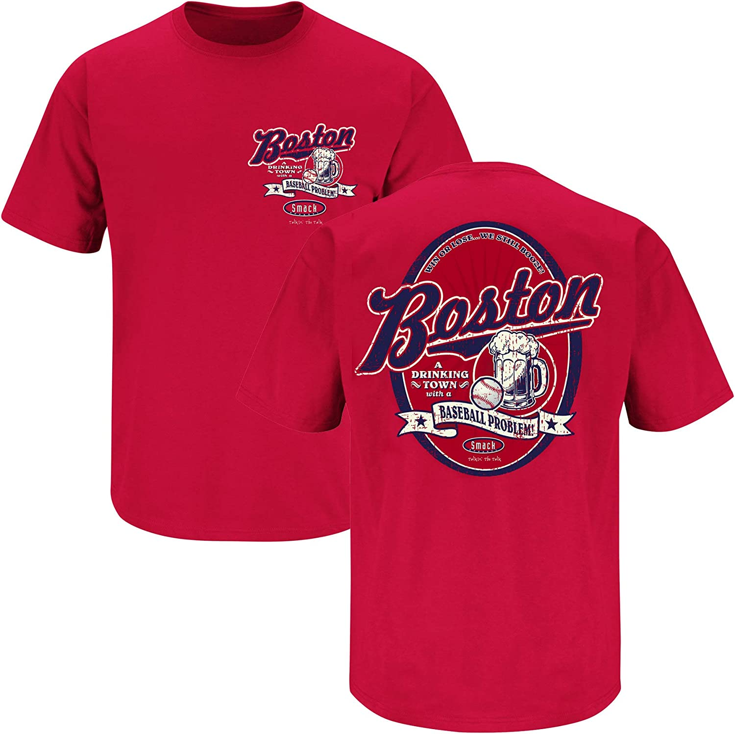 Sm-5X A Drinking Town with a Baseball Problem T-Shirt Boston Baseball Fans or Sticker