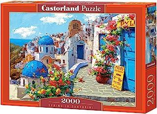 Castorland Spring In Santorini, Multi-Colour, 2000 Pcs