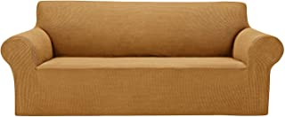 """AlGaiety Stretch Sofa Cover Slipcover, Furniture Protector Spandex 1-Piece Couch Coat(77""""-85"""") with Elastic Bottom for Dog..."""