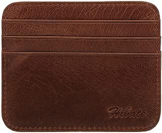 Hibate Men's Leather Credit Card Holder Wallet Case Mens Front Pocket Sleeve