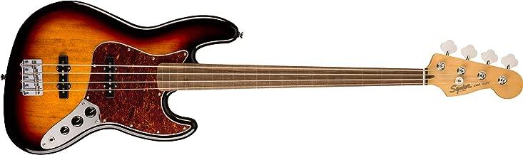 Squier by Fender Classic Vibe 60's Fretless Jazz Bass - Laurel - 3-Color Sunburst