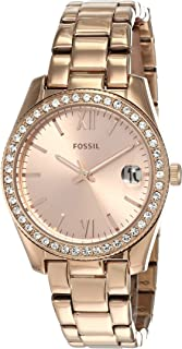 Fossil Scarlette Mini Women's Rose Gold Dial Stainless Steel Analog Watch - ES4318