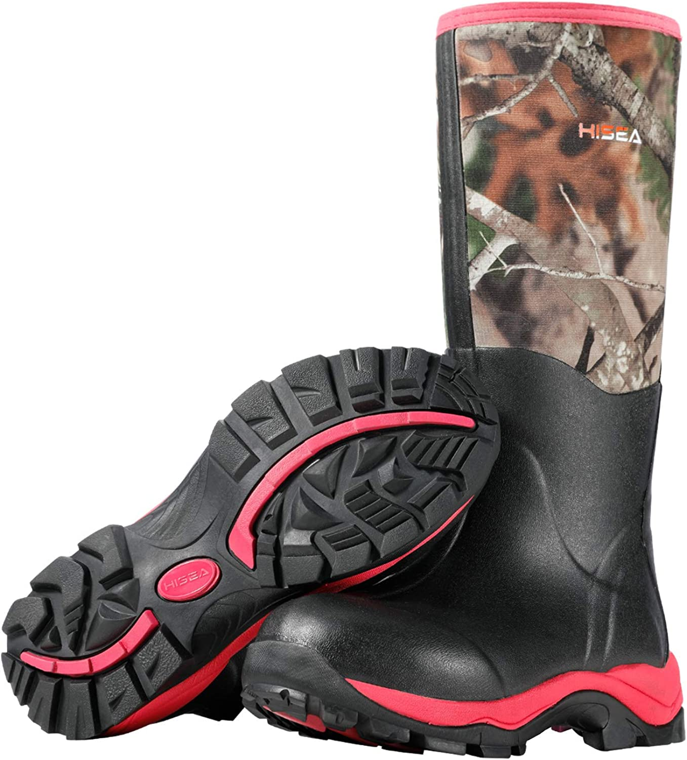 HISEA Women's Hunting Boots Insulated Rubber Boots Waterproof Muck Mud Boots Outdoor