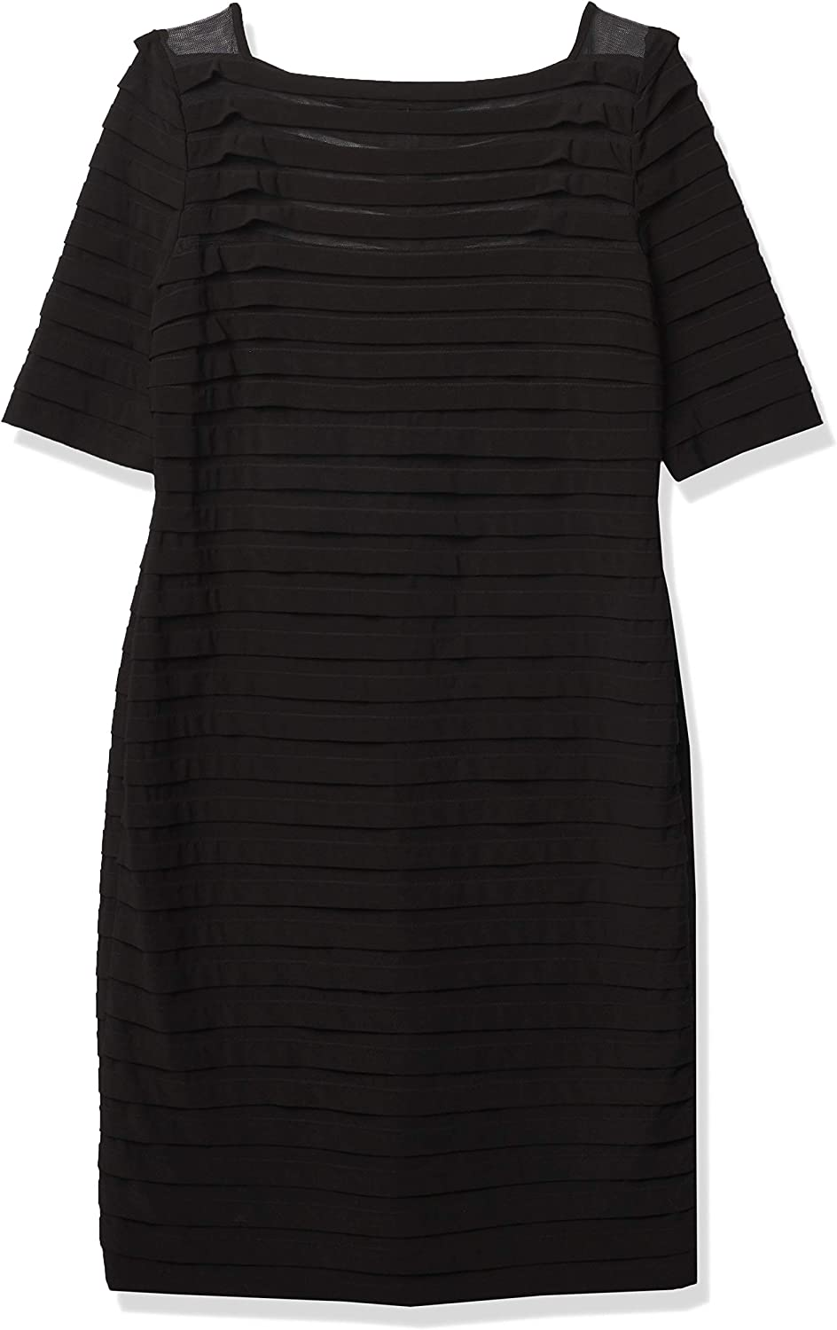 Adrianna Papell Women's Banded Illusion Dress